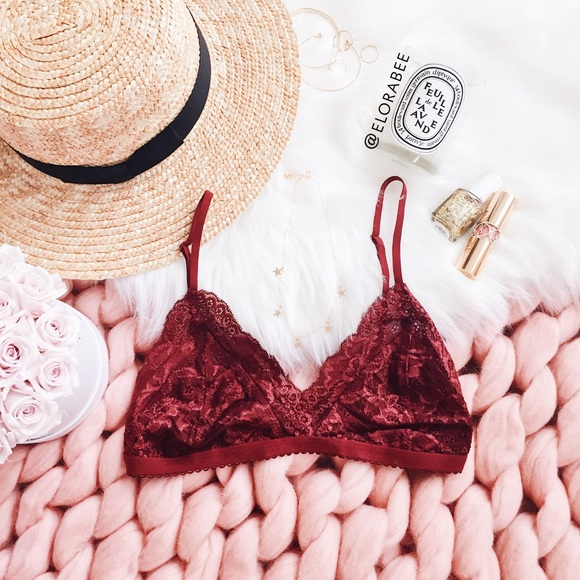 5f6cabac7d Aritzia Other - Lacey Maroon Bralette